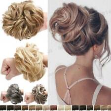 Chic Messy Rose Bun Hair Piece 100% Thick Scrunchie real as human Hair Extension