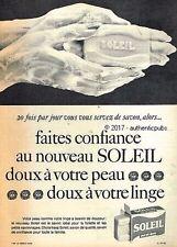 PUBLICITE SAVON SOLEIL DOUX A VOTRE PEAU MAIN DE 1963 FRENCH AD SOAP PUB VINTAGE
