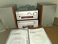 Onkyo CD Changer C-707CHX Stereo Tuner Amplifier R-805X Home Audio System Japan!