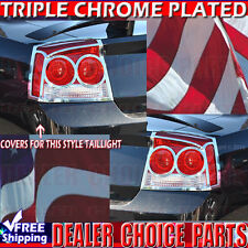 2009 2010 DODGE CHARGER Chrome ABS Tail Light Bezel Covers Overlays Trims
