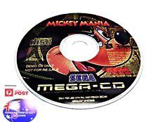 MICKY MANIA SEGA MEGA CD DRIVE RARE PAL DEMO GAME SUIT COLLECTOR GENESIS NOMAD