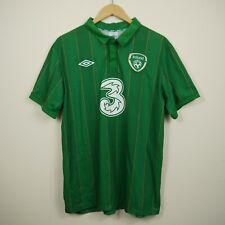 Republic Of Ireland 2011-2012 Home Umbro Green Football Shirt Jersey Top 44 L