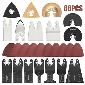 66PCS Oscillating Saw Blades Tools Multi Tool Fein Multimaster Dewalt Makita🔥