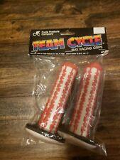 OLD SCHOOL BMX NOS TEAM CYCLE GRIPS REDLINE SKYWAY TORKER MONGOOSE 1988 Vintage