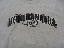 HERO BANNERS.COM - SIZE M T-SHIRT!