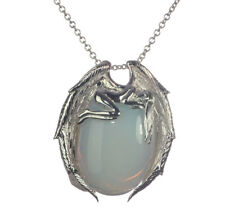 Amara Arelia Angel Faux Moonstone Silver 925 Pendant Necklace Anne Stokes SN9