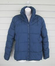 Old Navy Womens Navy Blue Puffy Puffer Winter Parka Jacket Coat M