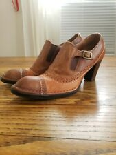 Alberto Fermani Brown Leather Ankle Boots Booties Italy 9 US  Shoes 39