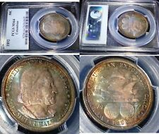 1892 RAINBOW TONED - Silver Commemorative 1892 50C Columbian - PCGS MS64