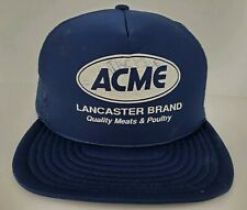 Vintage Acme Lancaster Meats Navy Blue One Size Adult SnapBack Trucker Hat