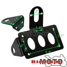 Side Mount Rear Taillight License Plate Bracket Lamp Holder Kit For Harley Hot