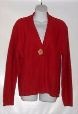 Tally-Ho Sportswear Petite Long Sleeve Cardigan Sweater Red PXL NWT MSRP $58.00