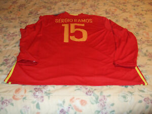 Sergio Ramos Spain National Team Soccer / Football Shirt / Jersey