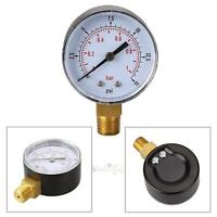 3.1Low Pressure Gauge for Fuel Air Oil Water Gas 50mm 0/15 PSI 0/1 Bar 1/4 BSPT