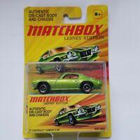 Matchbox Lesney Edition 1971 Green Chevrolet Camaro Z-28 Diecast Body Ages 8+