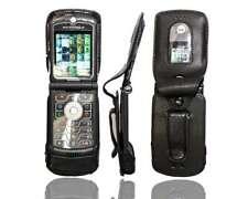 Smartphone Case for Motorola Razr V3m V3c Leather-Case with belt clip Protective
