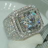 Fashion 925 Silver White Topaz Wedding Engagement Party Ring Jewelry Size 6-10