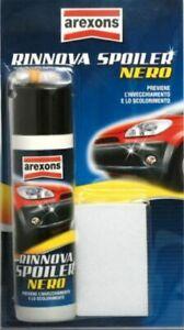 Rinnova Spoiler Nero Spray Auto per Plastiche esterne Arexons proteggi plastica