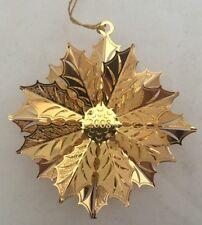 Danbury Mint Gold Ornament Collection 2008 Christmas Wreath