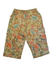 New Oilily Womens Long Floral Shorts Size 176 US 16