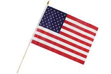 Fahne Flagge USA   30 x 45 cm mit Holzstab Höhe 61cm (2er Set) (0520303)