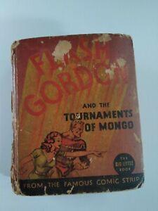 Flash Gordon Tournaments of Mongo Vtg 1935 Big Little Book #1171 Rare Comic VHTF