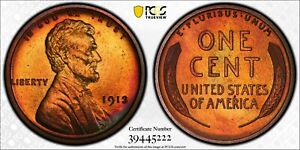 1913 Lincoln Cent Proof PCGS PR67+RB CAC Top Pop 4/0