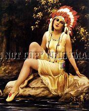 BEAUTIFUL 8X10 REPRODUCTION PHOTO PRINT OF INDIAN PRINCESS