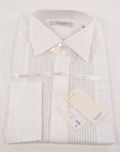 NWT Taccaliti (Maker of Canali) Size US 42 16.5 White Dress Formal Tuxedo Shirt