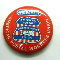 1950s Pinback Button Member American Postal Workers Union US Mail AFL-CIO
