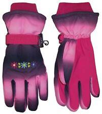 NICE CAPS Girls Childrens Thinsulate Waterproof Floral Ski Winter Snow Gloves