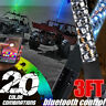 3FT bluetooth Control RGB LED Lighted Spiral Whip Flag For ATV UTV RZR Truck New