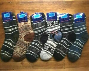3 Pairs MEN Thick Fluffy Home Non-slip Warm Soft Fur Winter Bed Socks Slipper