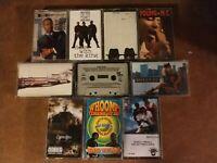 LOT of 10 Hip Hop Rap Cassette Tapes -  RUN DMC Beastie Boys MC Hammer Young MC
