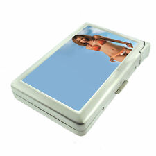 Beach Pin Up Girls D8 Cigarette Case with Built in Lighter Metal Wallet