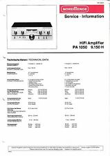 Service Manual instructions for Nordmende PA 1050