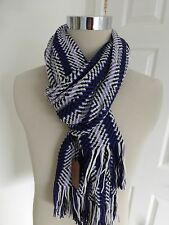 BNWT Missoni Purple Lilac Multi Pattern Wool Blend Knitted Scarf - Made in Italy