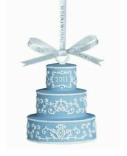 Wedgwood 2011 Ornament ~ Blue Wedding Cake Porcelain Our First Christmas
