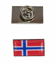 La Norvège Drapeau Cravate Broche Avec Gratuit Organza Pouch