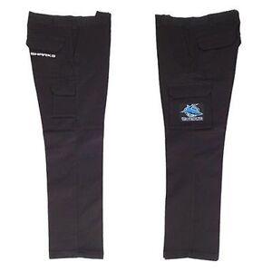 New NEW NRL Sharks Pre-shrunk Cargo Work Pants: Black Merchandise