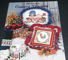JO SONJA'S COUNTED CROSS STITCH PATTERN LEAFLET BOOK 1 COUNTED DESIGNS 1982 OOP