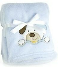Luxury Soft Fleece Baby Blanket With Puppy Applique 75 X 100cm for Babies From