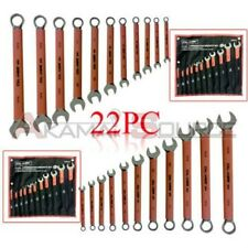 PRO 22pc Combination Wrench Set Automotive Tools Kit SAE and METRIC
