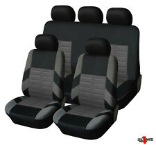 Audi A3 A4 A6 Full Set Grey Car Seat Covers Soft Breathable Fabric Protectors