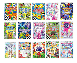 Childrens Kids Girls Boys A6 Puzzle Colouring Activity Books Party Bag Fillers