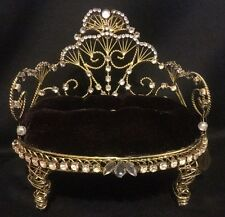 Katherine's Collection Retired Tiara Chair Doll Display Accessory Gold Black