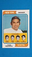 1974 TOPPS BASEBALL #179 YOGI BERRA NEW YORK METS MANAGER CARD NRMT