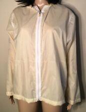 Woman's Size Medium Yellow Lightweight rain coat rain jacket Windbreaker Nylon