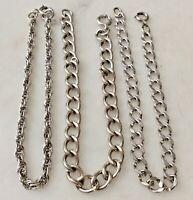3 Vintage Sterling Silver Starter Charm Bracelets Lot C