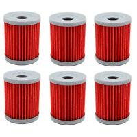 6 Pack Oil Filters For Suzuki King Quad LTF300 91-02 Quadsport LTZ250 04-09